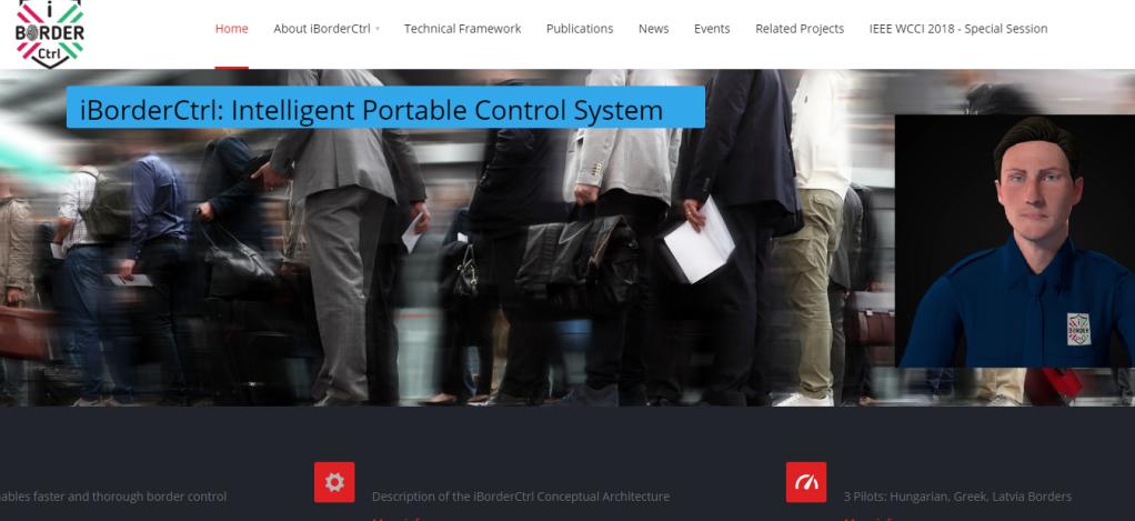 iBorderCtrl |Capture d'écran du site de iBorderCtrl.