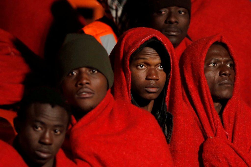 Image d'archives de migrants arrivés en Espagne. Crédit : Reuters
