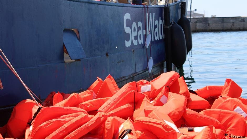 Life vests drying after an operation by Sea-Watch 3 | Photo: Sea Watch