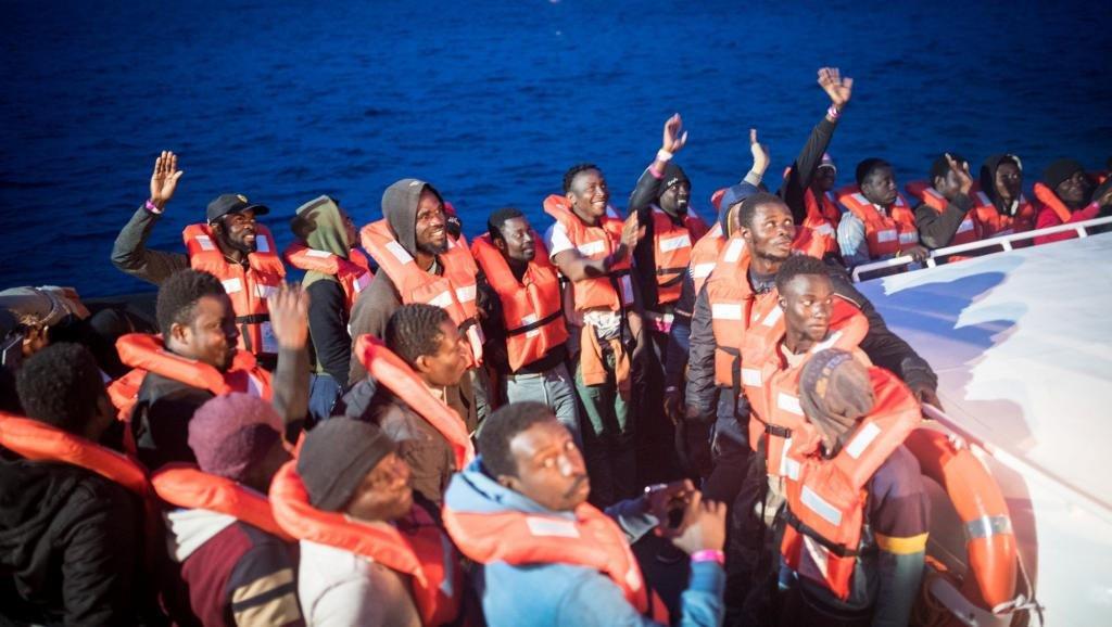 مهاجرون أفارقة قادمون إلى أوروبا