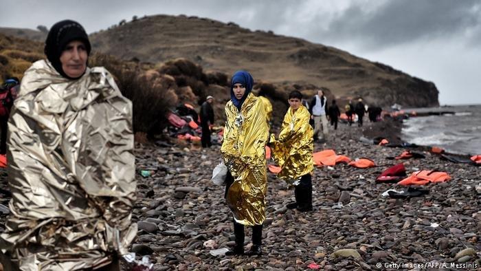 Migrants arriving in Greece