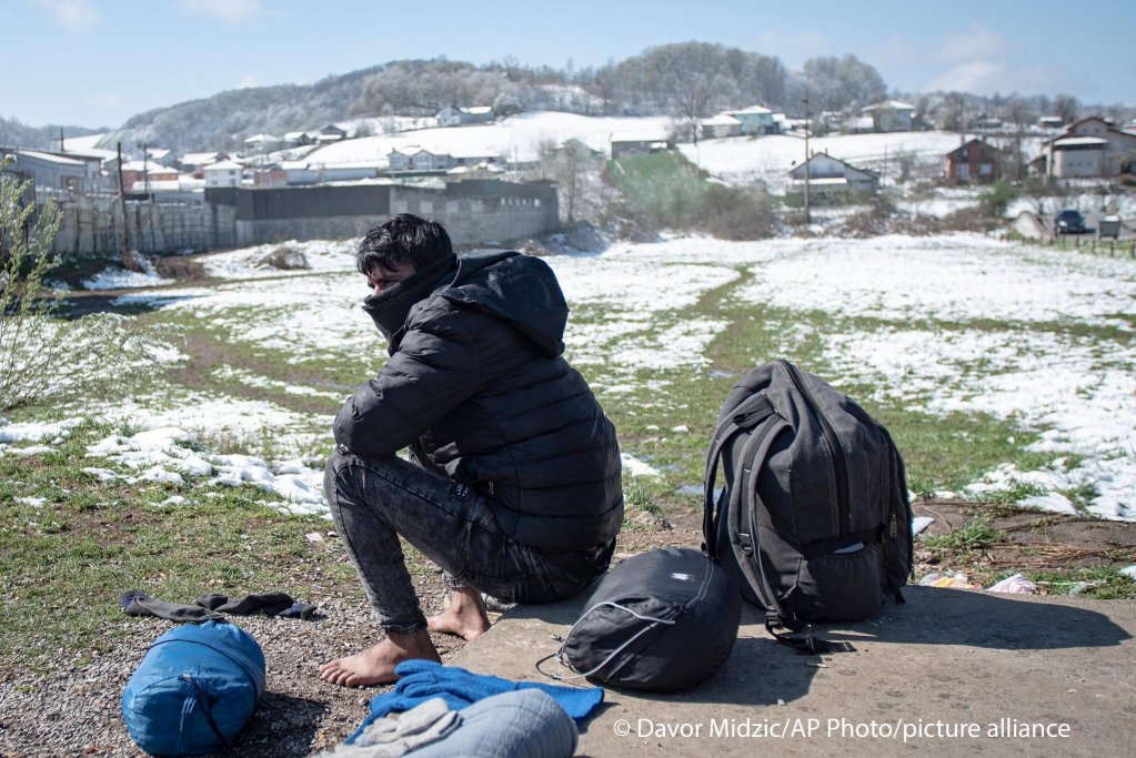 Outside the Miral camp, in Velika Kladusa, Bosnia, Wednesday, April 7, 2021 | Photo: picture alliance/Davor Midzic