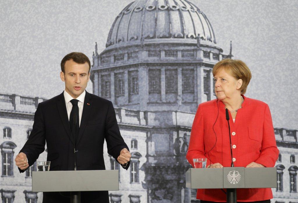 Kay Nietfeld/Pool via Reuters |Emmanuel Macron et Angela Merkel lors d'une précédente rencontre à Berlin, en avril dernier.