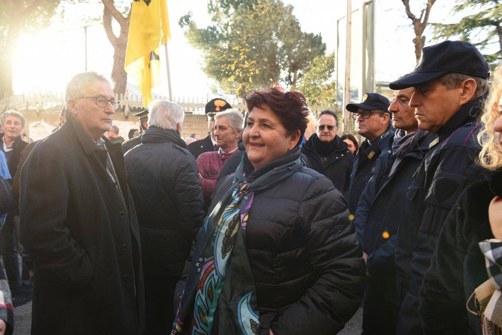 Italian minister for agriculture Teresa Bellanova in Foggia for a march by the organization Libera against criminality that exploits migrants, on January 10, 2020 | Photo: ANSA