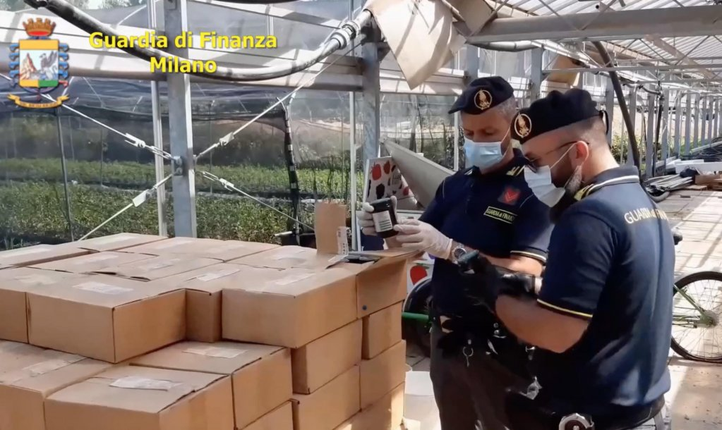 Screenshot from a video by the Gorgonzola police, in the province of Milan. Officers seized assets worth 7.5 million euros as part of an investigation into illegal gangmastering in the Martesana area, Cassina de Pecchi, 24 August 2020 | Photo:  ANSA