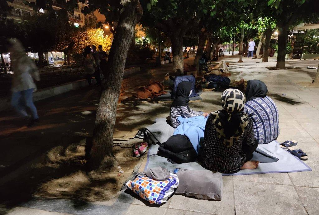 پناهجویان افغان در پارک ویکتوریا در شهر آتن یونان. عکس: حق کاپی محفوظ است
