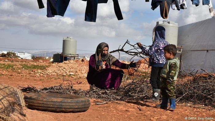 أحد مخيمات اللاجئين السوريين في منطقة البقاع اللبنانية. أرشيف