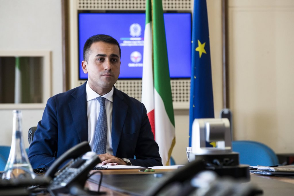Italian Foreign Minister Luigi Di Maio before the virtual preparation of the meeting Joint Economic and Trade Commission (JETCO) with Turkish Trade Minister Ruhsar Pekcan, Rome, July 29, 2020 | Photo: ANSA/ANGELO CARCONI (ANSA)