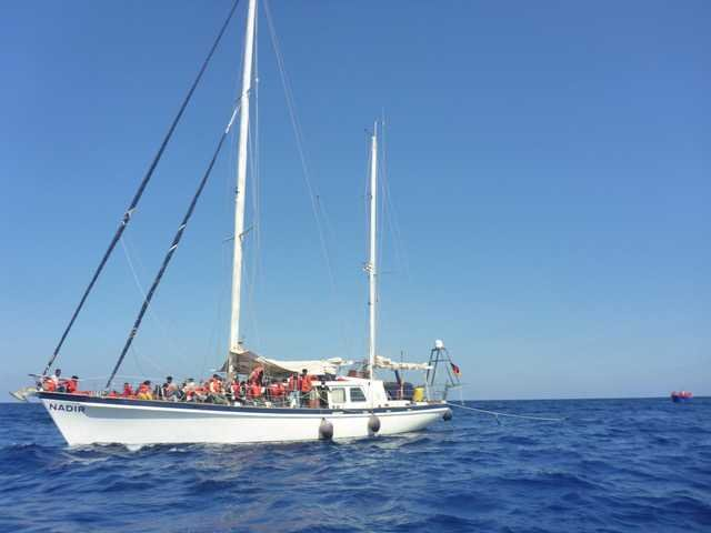 The German-flagged rescue vessel 'Nadir' rescued 86 people from the Mediterranean on Wednesday, June 16, 2021 | Source: Twitter @resqship_int