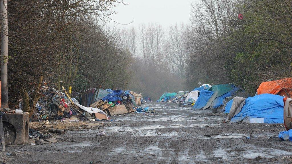 اردوگاه مهاجران در شهر گراند سنت. عکس از: آرشیو مهاجر نیوز.