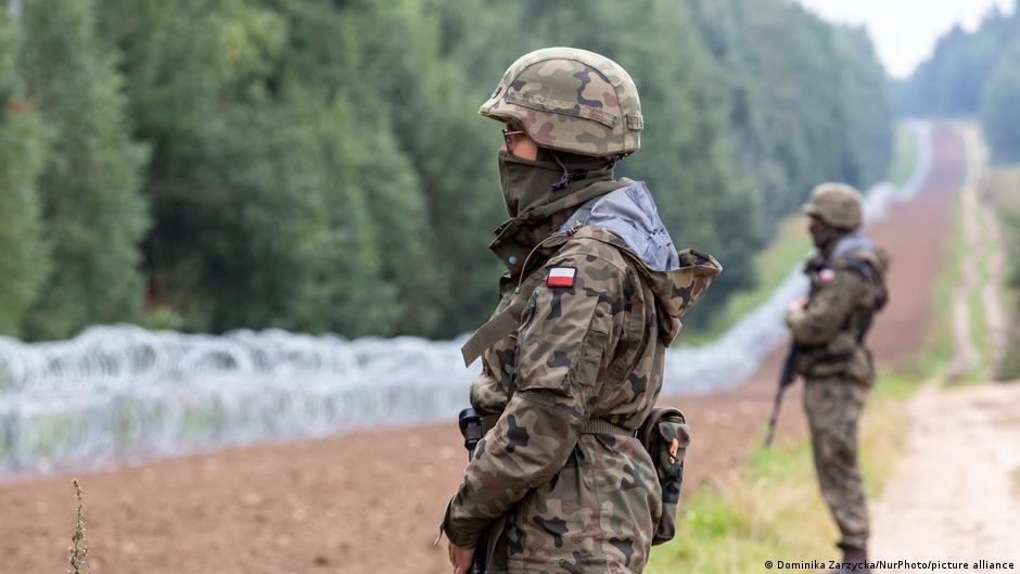 La Pologne a envoyé des centaines de soldats supplémentaires à sa frontière avec la Biélorussie. Crédit : Picture alliance