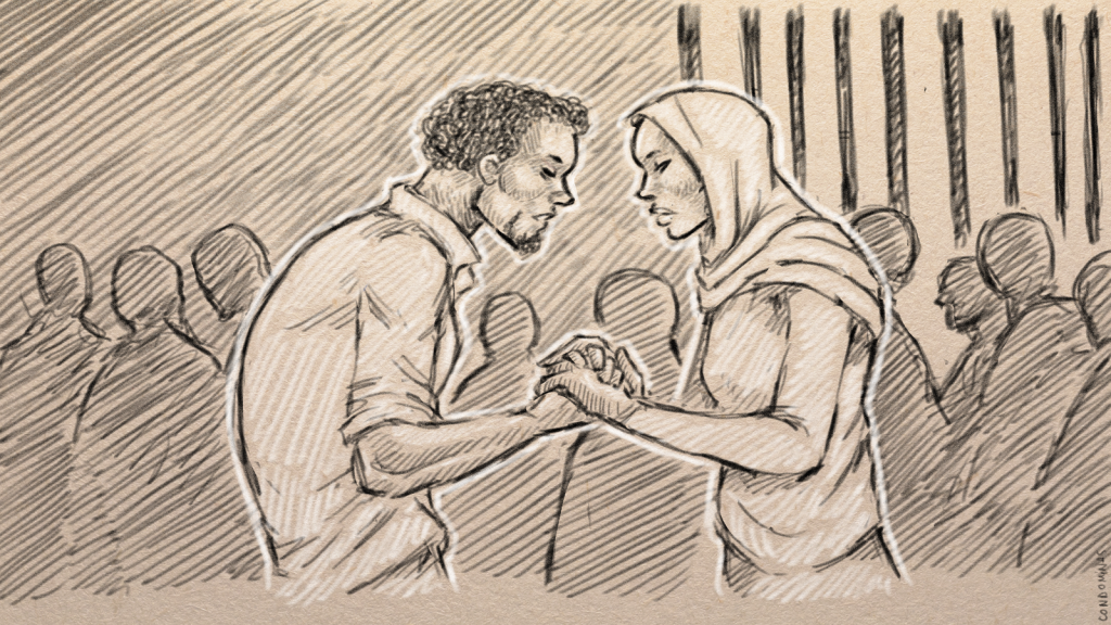 A marriage proposal in prison | Illustration: Baptiste Condominas