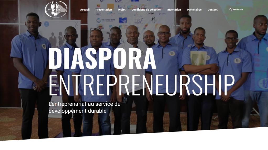 diaspora-entrepreneurship.com |Page d'accueil de Diaspora entrepreneurship. (Image d'illustration)