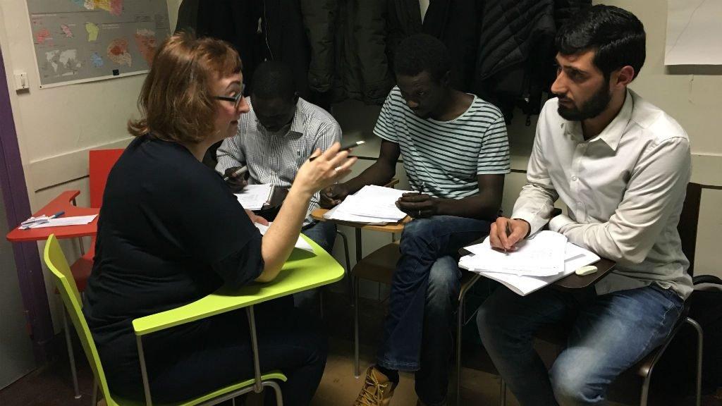 L'école Thot accueille des migrants et réfugiés n'ayant pas obtenu l'équivalent du baccalauréat dans leur pays. Photo : Julia Dumont