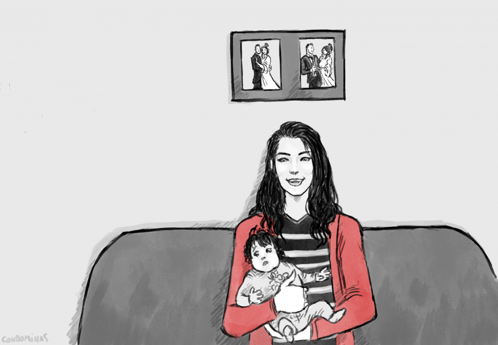Hadil was only 16 when she had her first child | Illustration: Baptist Condominas