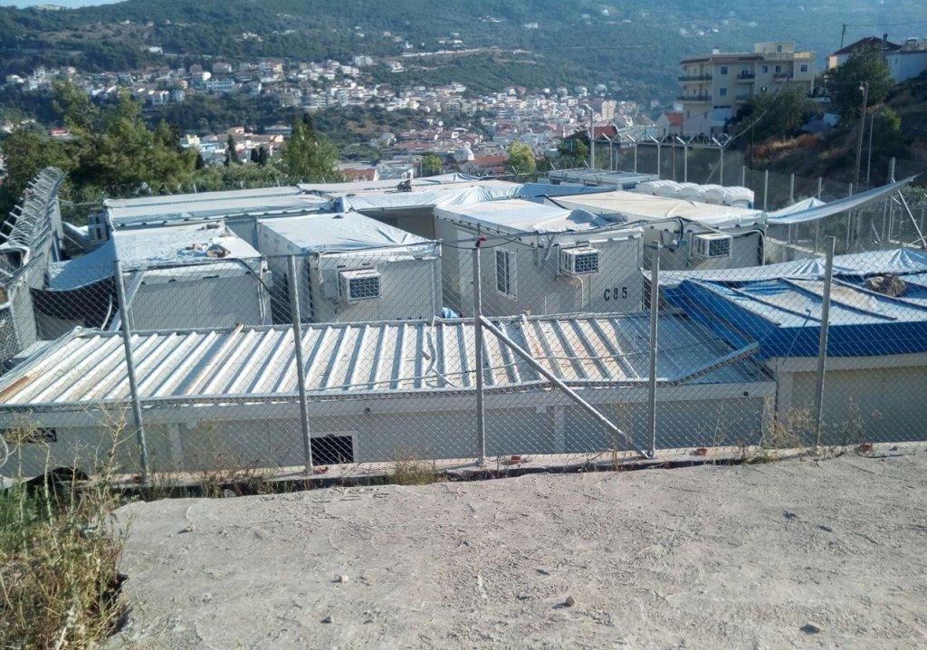 عکس از دویچه وله/ یکی از اردوگاه های پناهجویان در یونان.