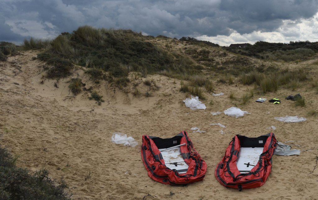 Two brand-new inflatable boats that migrants left behind them in Dunes de la Slack, 30 kilometres south of Calais, on September 1st, 2020, after a French police operation prevented them from boarding | Photo: InfoMigrants