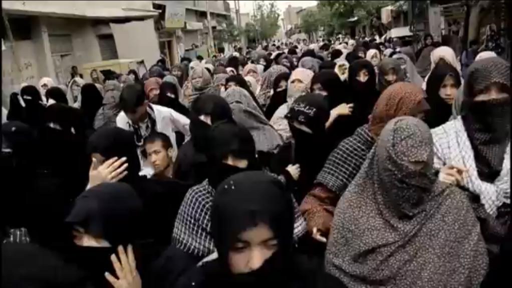 د کوئټې هزاره ګان د اعتراض په حال /انځور: طاهر علي