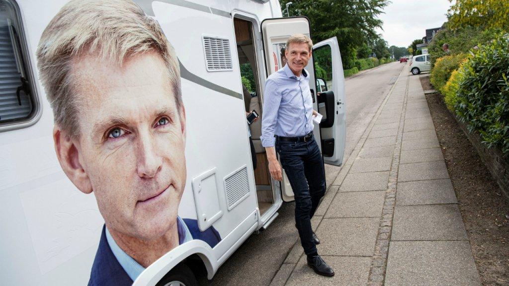 Kristian Thulesen Dahl, le chef de fil du parti anti-immigration DF, lors des élections législatives du 5 juin 2019. Crédit : Reuters