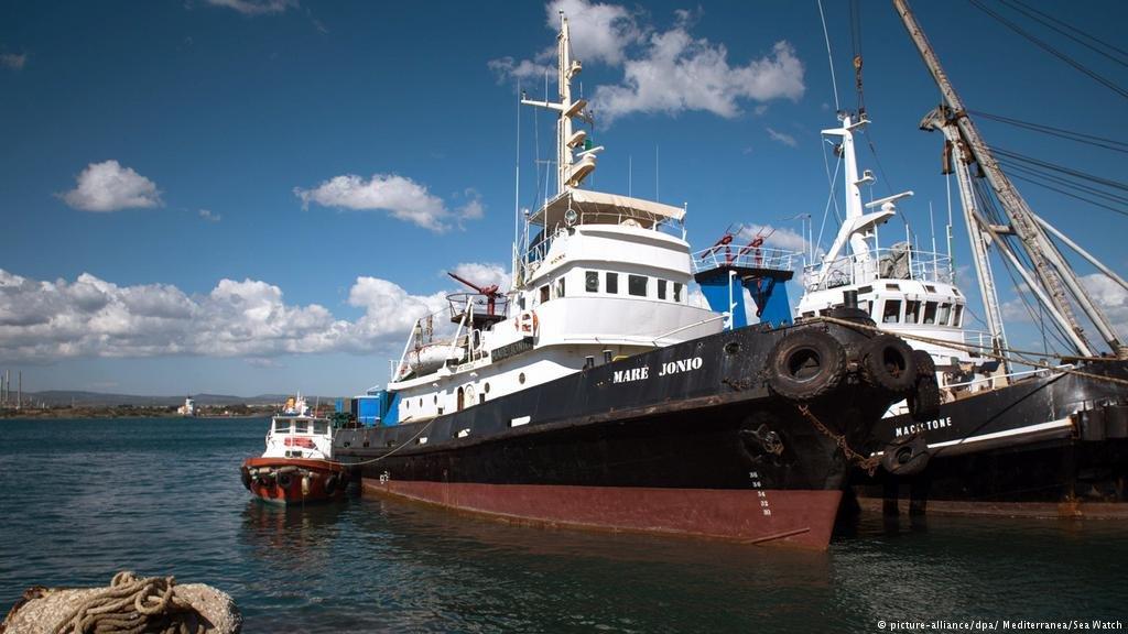 Le Mare Jonio. Crédit : picture-alliance/dpa/Mediterranea/Sea Watch