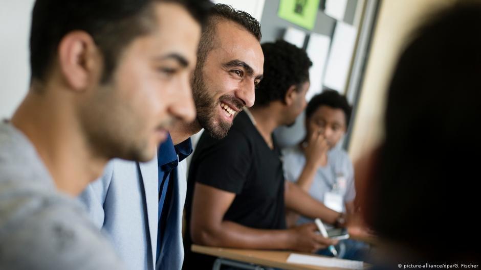 طلاب سوريون في برلين - أرشيف. ج.فيشر