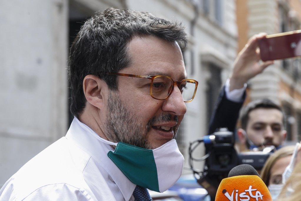 Matteo Salvini à Rome, le 26 mai 2020. Crédit : ANSA/Fabio Frustaci