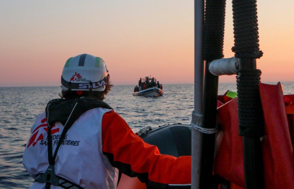 """سفينة """"جيو بارنتس"""" التابعة لمنظمة أطباء بلا حدود. الصورة: MSF sea"""