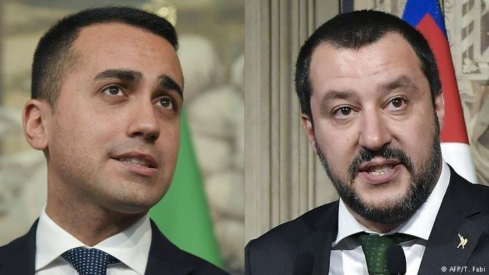 AFP/T. Fabi |قطبا الحكومة الشعبوية المتطرفة في إيطاليا: ماتيو سالفيني ولويجي دي مايو، أرشيف