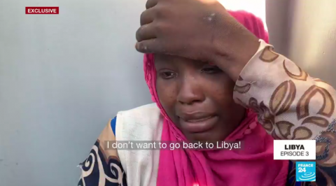 FRANCE 24 exclusive report on the migrant situation in Libya