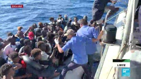 Reportage en mer auprès des garde-côtes libyens