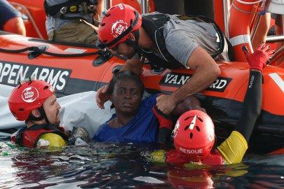 L'ONG espagnole Proactiva Open Arms se donne pour mission de secourir les migrants naufragés en Méditerranée. Pau Barrena, AFP