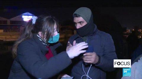 Des centaines de migrants vivent toujours à la rue en région parisienne. Crédit : France 24