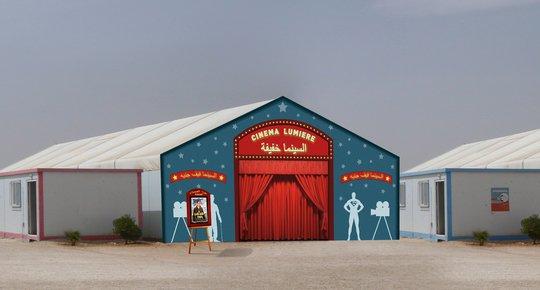 Façade du futur cinéma des Lumières. Crédit : Lumière à Zaatari.