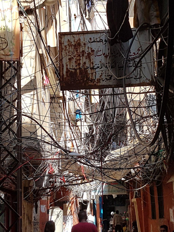 مخيم شاتيلا للاجئين الفلسطينيين جنوب بيروت. أرشيف