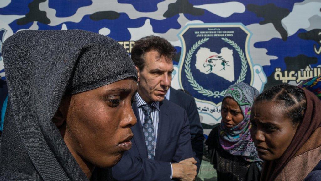 ansa / برنامج إيطالي لتحسين الأوضاع في مركزين للاستقبال في ليبيا