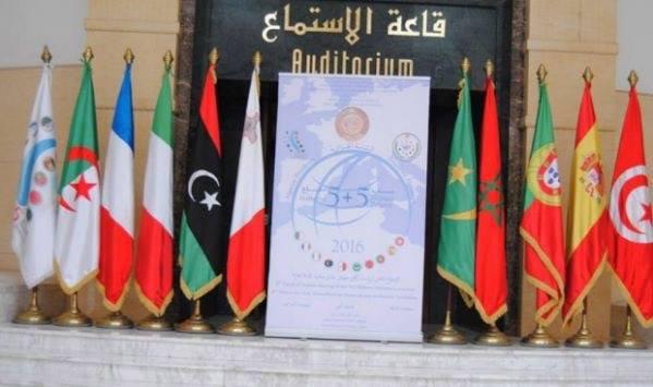 فيسبوك |  شعار وأعلام قمة 5+5 بالجزائر