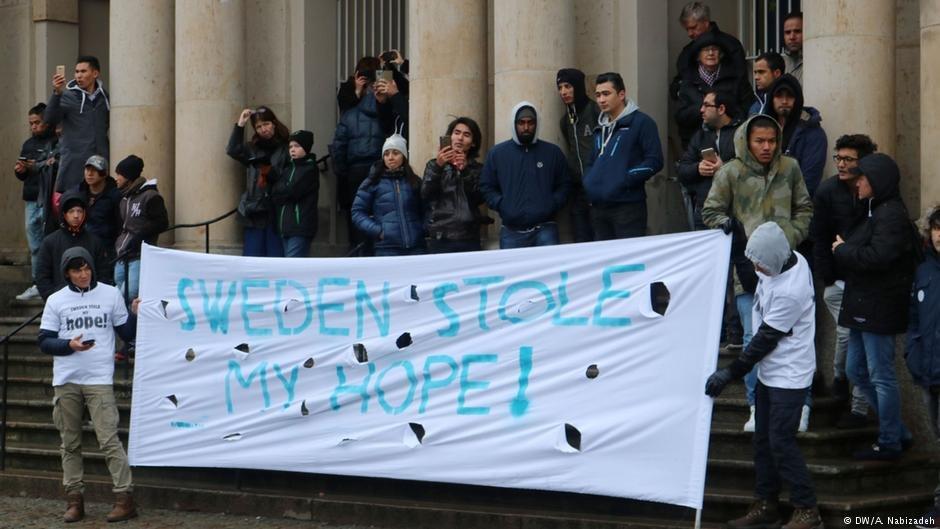 An anti-deportation demonstration in Gothenburg in 2016 | Photo: DW/A.Nabizadeh