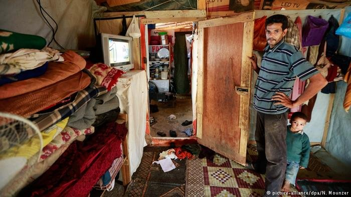 Syrian refugee Mohamed Rached in his tent at Faydha refugee camp east of Lebanon  Credit picture-alliancedpaNMounzer