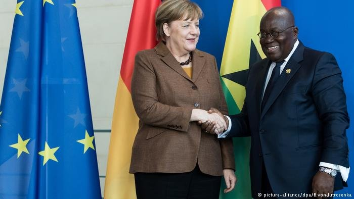 German Chancellor Merkel with Ghanaian President Akufo-Addo in February 2018