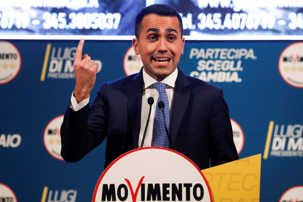 Lun des leaders du mouvement 5 toiles Luigi Di Maio Crdit  Reuters