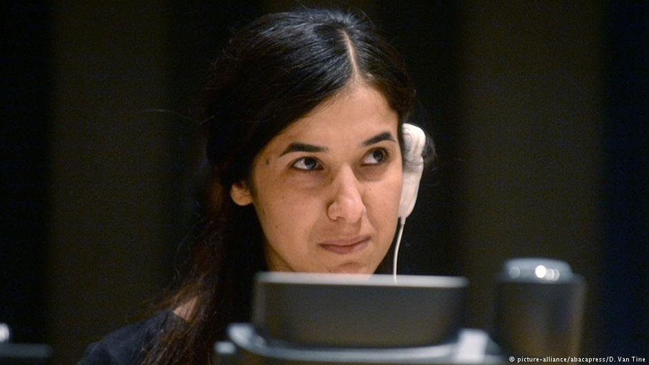 Nadia Murad was a victim of the Islamic State's attack on Yazidis, but she managed to escape.