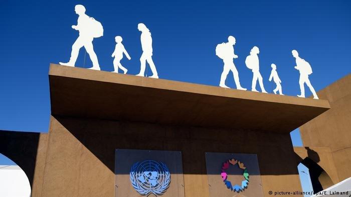 عکس از دویچه وله/ نشست جهانی سازمان ملل برای تصویب پیمان مهاجرت در مراکش برگزار شد.
