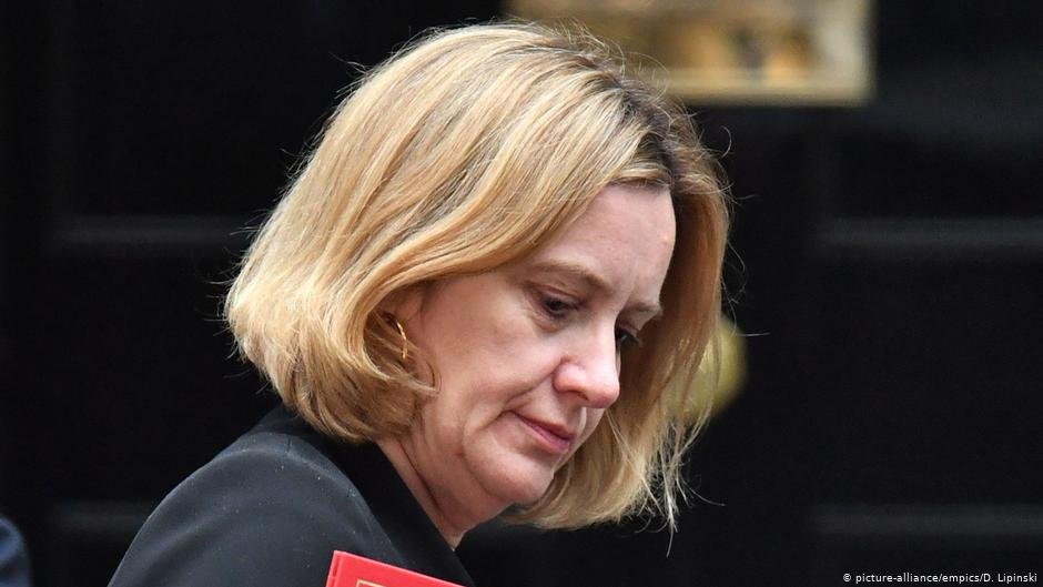 Then-Foreign Secretary Amber Rudd was forced to step down over the Windrush scandal  PHOTO picture-allianceempicsD Lipinski