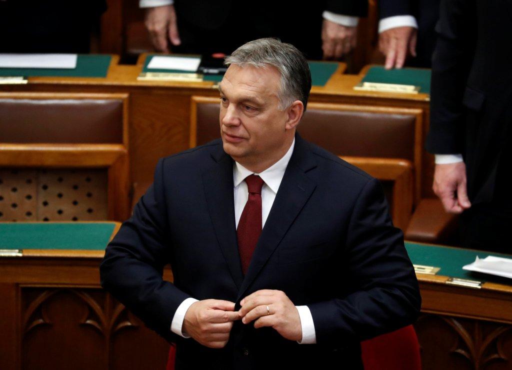 REUTERS/Bernadett Szabo |Viktor Orban, ici devant le parlement hongrois, doit s'exprimer devant le parlement européen, mardi 11 septembre 2018.