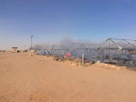 Selon le HCR, 80% du camp est parti en fumée. Crédit : DR