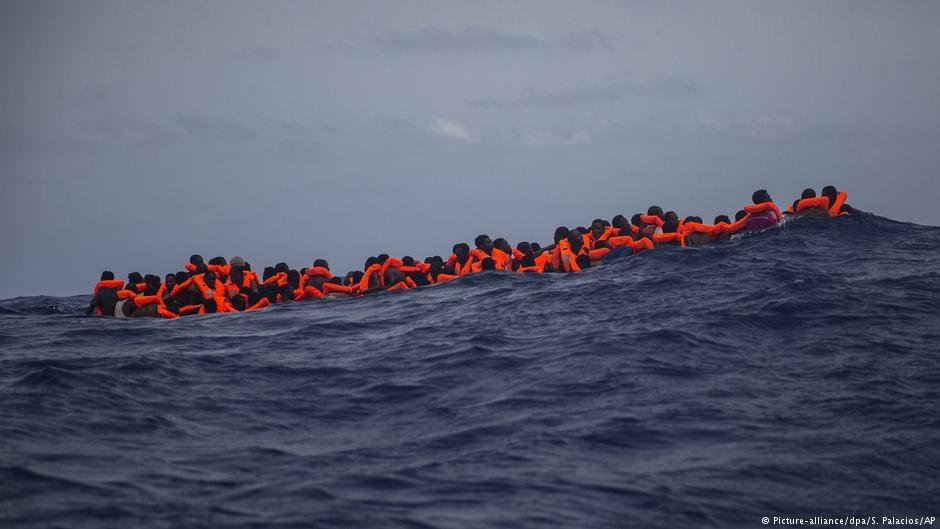 Migrants often have difficulties after setting off from Libya