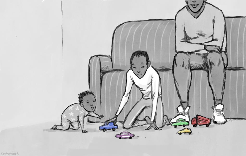Affoussata et ses enfants ont longtemps vécu à l'hôtel avant de pouvoir obtenir un studio.