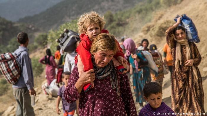 Des Yazedis fuient les persécutions de l'Etat islamique