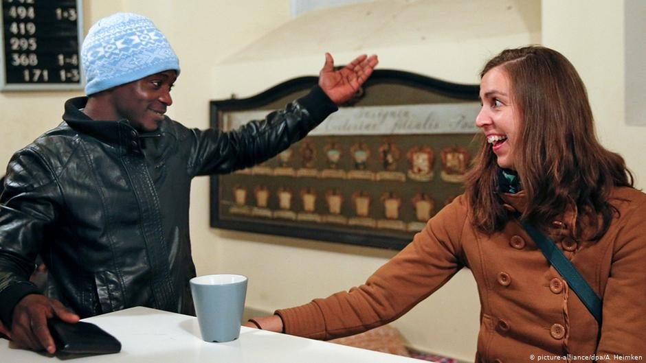 Germany St Pauli Church in Hamburg hosts African refugee
