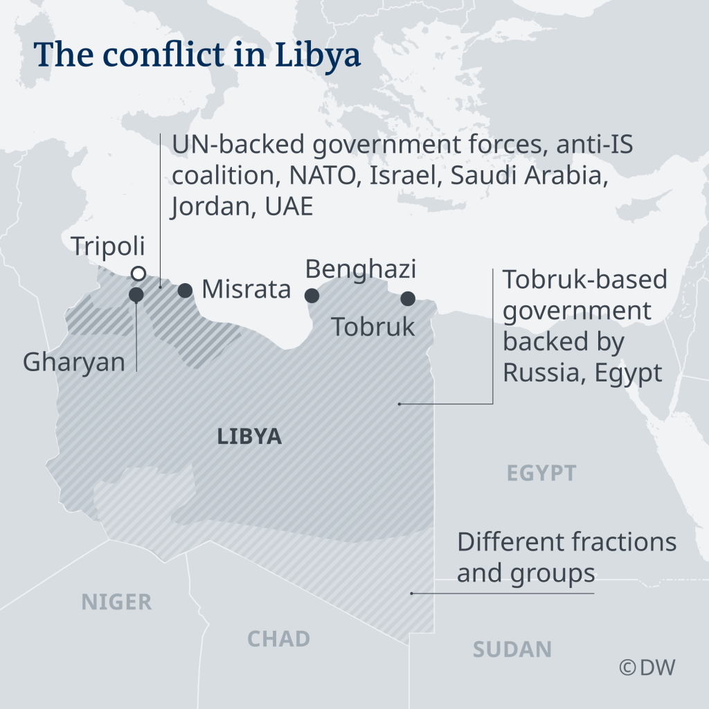 The conflict in Libya April 2019  Credit DW